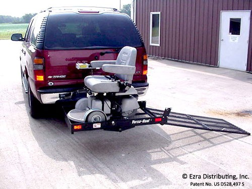 Loading Mobility Scooter onto Carrier
